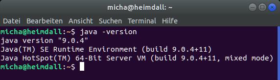 Ermittlung der Java-Version über die Shell (Ubuntu